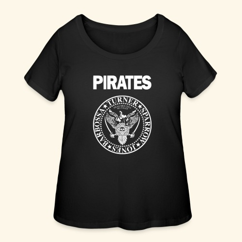 Punk Rock Pirates [heroes] - Women's Curvy T-Shirt