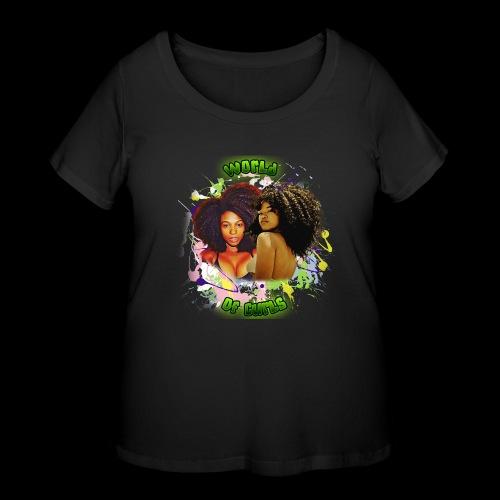World of Curls - Women's Curvy T-Shirt