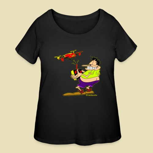 GrisDismation Ongher Droning Out Tshirt - Women's Curvy T-Shirt