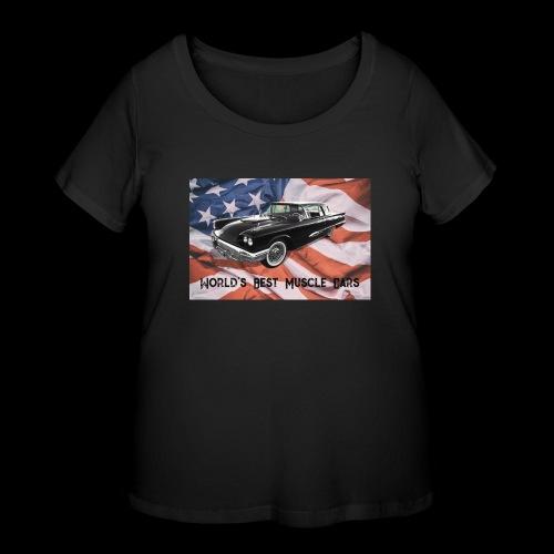 World's Best Muscle Cars - Women's Curvy T-Shirt