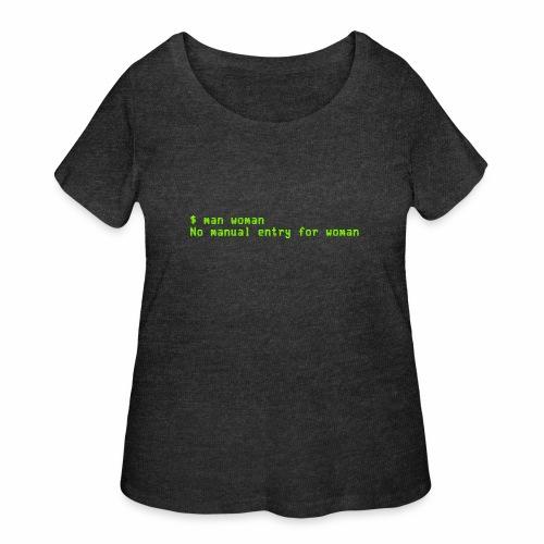 man woman. No manual entry for woman - Women's Curvy T-Shirt