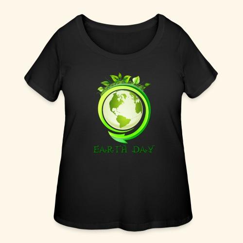 Happy Earth day - 2 - Women's Curvy T-Shirt