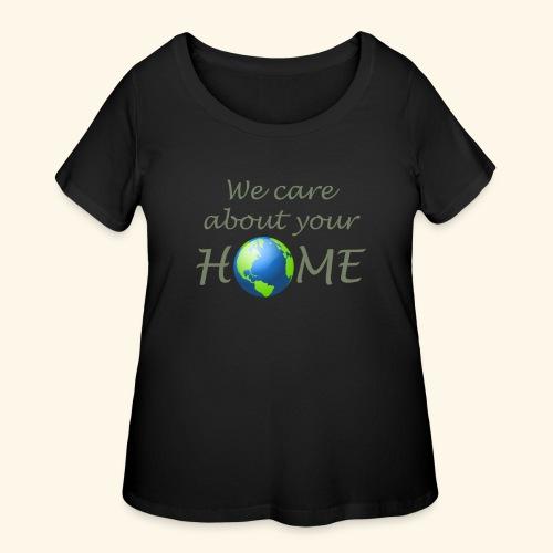 Happy Earth day - Women's Curvy T-Shirt