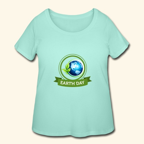 Happy Earth day - 3 - Women's Curvy T-Shirt