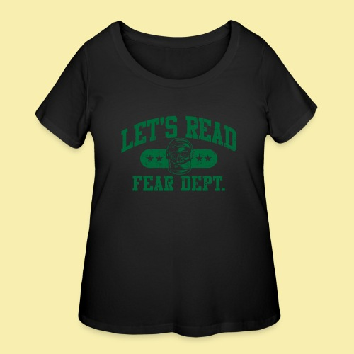 Athletic Green - Inverted for Dark Shirts - Women's Curvy T-Shirt
