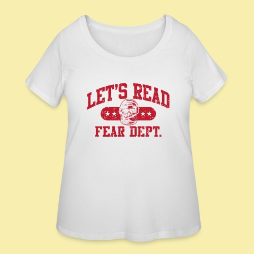 Fear Dept - Athletic Red - Inverted - Women's Curvy T-Shirt