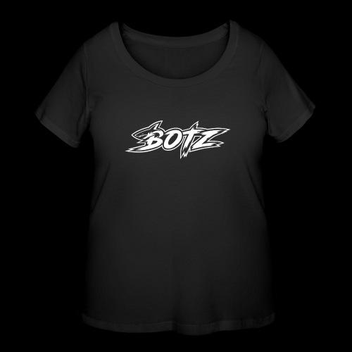 BOTZ White Logo - Women's Curvy T-Shirt