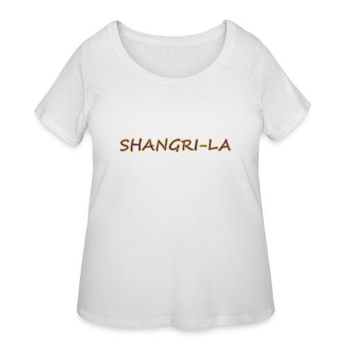 Shangri La gold blue - Women's Curvy T-Shirt