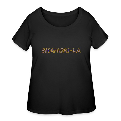Shangri La gold blue - Women's Curvy T-Shirt