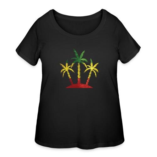 Palm Tree Reggae - Women's Curvy T-Shirt