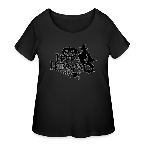 Happy Halloween - Women's Curvy T-Shirt