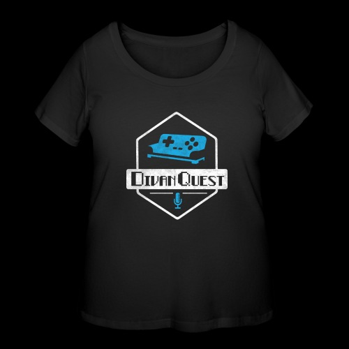 DivanQuest Logo (Badge) - Women's Curvy T-Shirt
