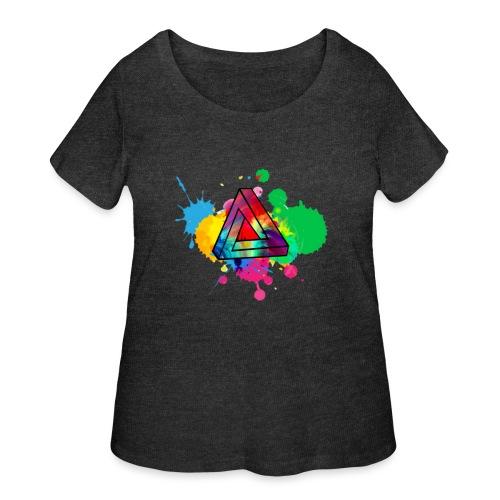 PAINT SPLASH - Women's Curvy T-Shirt