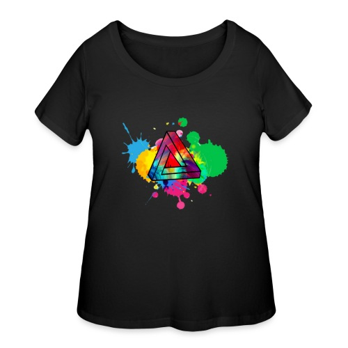 PAINT SPLASH - Women's Curvy T-Shirt