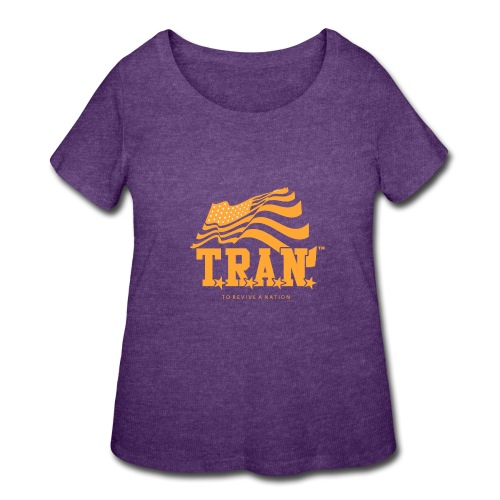 TRAN Gold Club - Women's Curvy T-Shirt