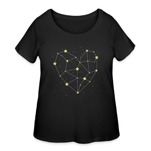 Heart in the Stars - Women's Curvy T-Shirt