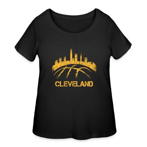 Cleveland Basketball Skyline - Women's Curvy T-Shirt
