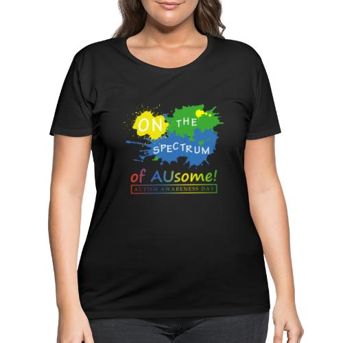 On the Spectrum of AUsome Autism Awareness Day - Women's Curvy T-Shirt