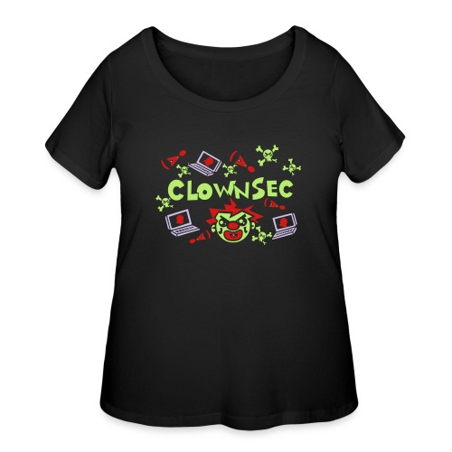 The Clown Hacker - Women's Curvy T-Shirt