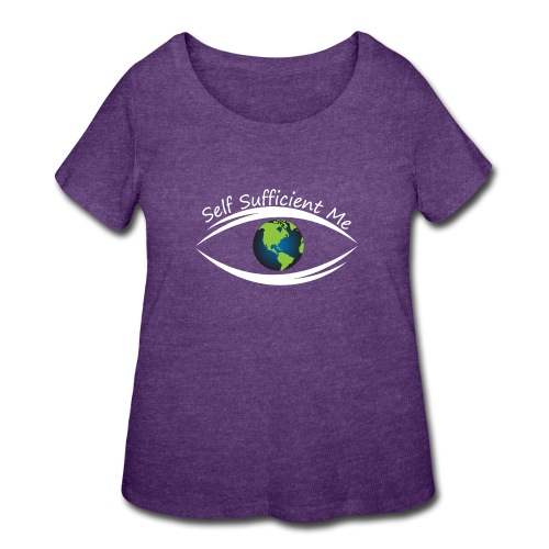 Self Sufficient Me Logo Large - Women's Curvy T-Shirt