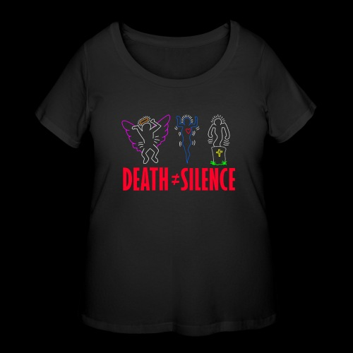 Death Does Not Equal Silence - Women's Curvy T-Shirt