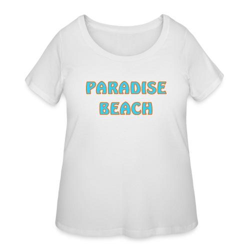 Paradise beach - Women's Curvy T-Shirt