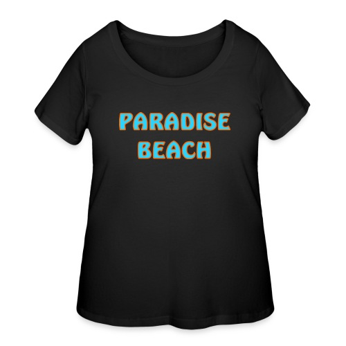 Paradise beach - Women's Curvy T-Shirt