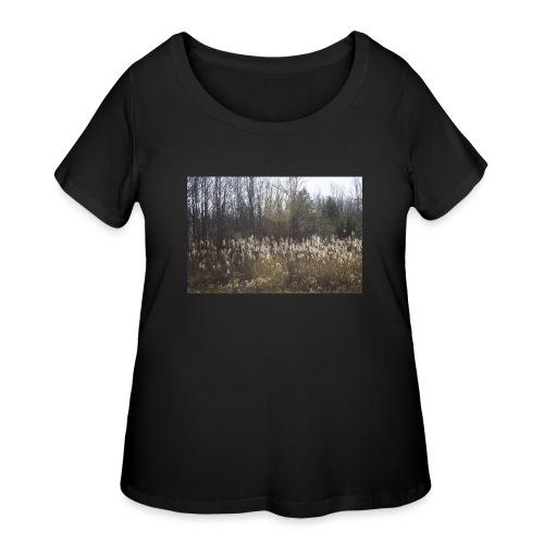 Roadeside field - Women's Curvy T-Shirt