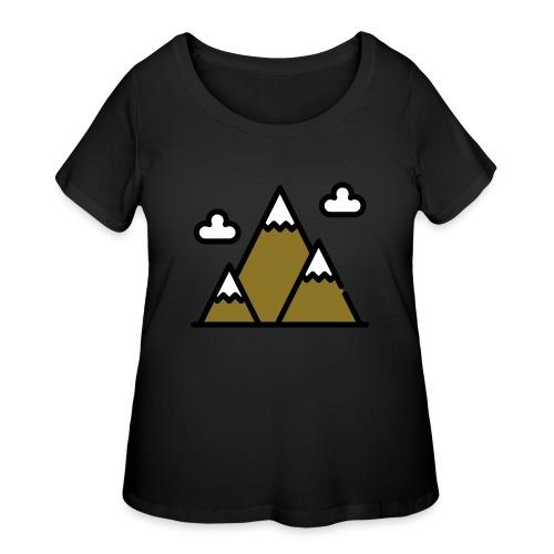 The Mountains - Women's Curvy T-Shirt