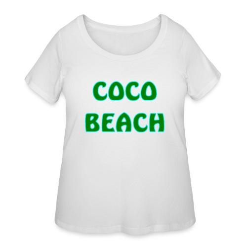 Coco beach - Women's Curvy T-Shirt