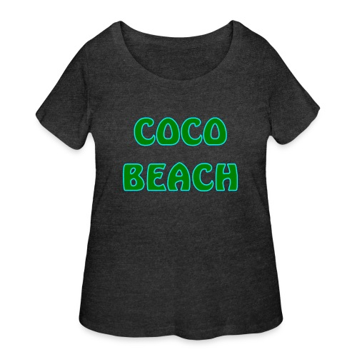 Coco beach - Women's Curvy T-Shirt