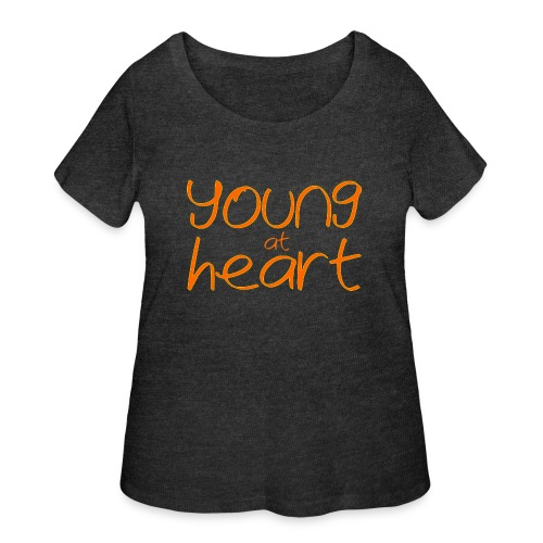 young at heart - Women's Curvy T-Shirt