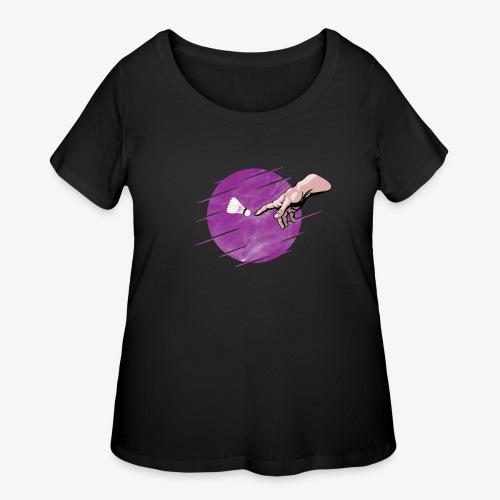 Badminton is a divine creation - purple design - Women's Curvy T-Shirt