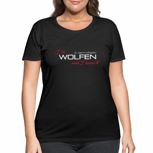Wolfen Atitude on Dark - Women's Curvy T-Shirt