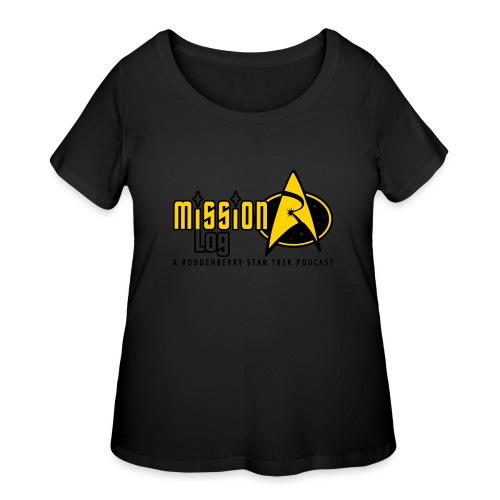 Logo Wide 2 Color Black Text - Women's Curvy T-Shirt