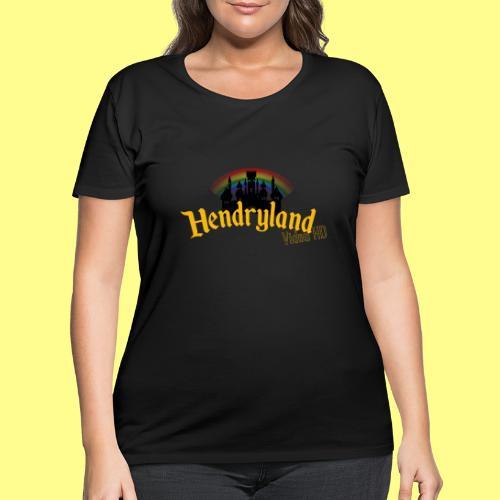 HENDRYLAND logo Merch - Women's Curvy T-Shirt