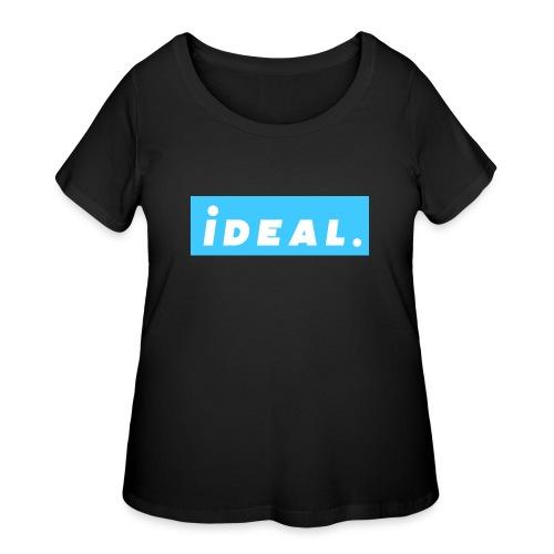 rare ideal blue logo - Women's Curvy T-Shirt