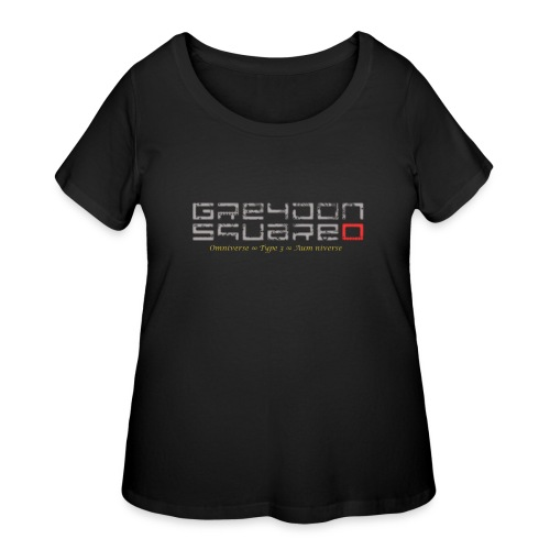 Greydon Square Blue & Gold - Women's Curvy T-Shirt