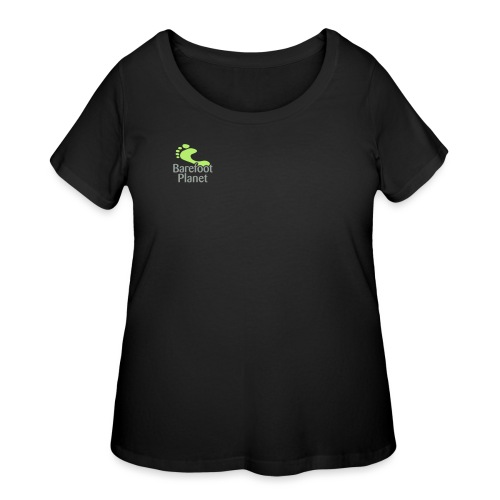 Barefoot Running 1 Women's T-Shirts - Women's Curvy T-Shirt
