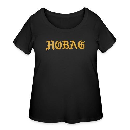 BLACK - HOBAG LETTERING - Women's Curvy T-Shirt