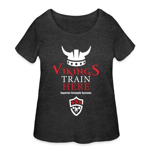 Vikings Train Here - Women's Curvy T-Shirt