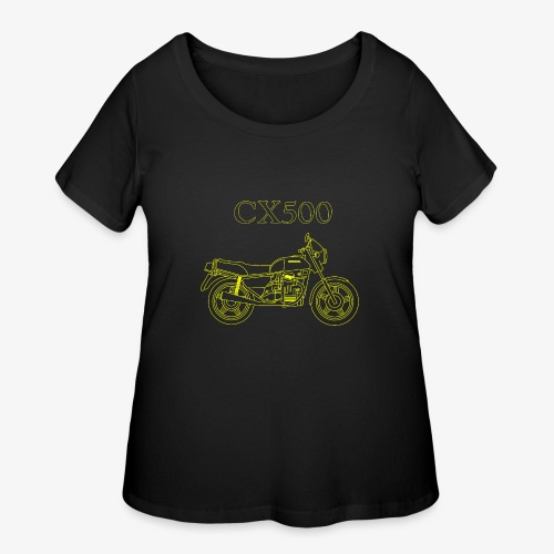 CX500 line drawing - Women's Curvy T-Shirt