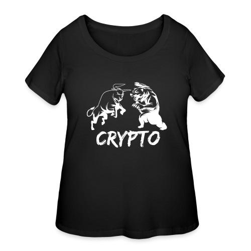 CryptoBattle White - Women's Curvy T-Shirt