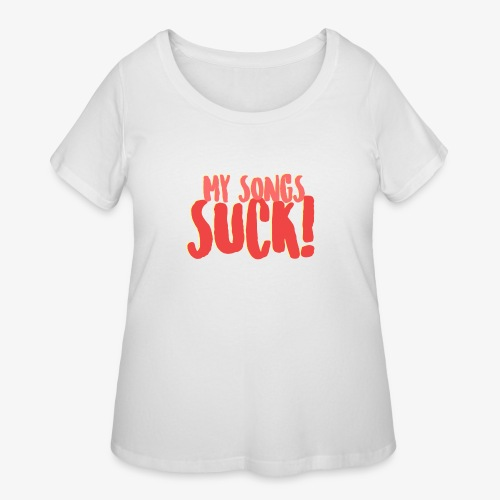My Songs Suck Logo - Women's Curvy T-Shirt