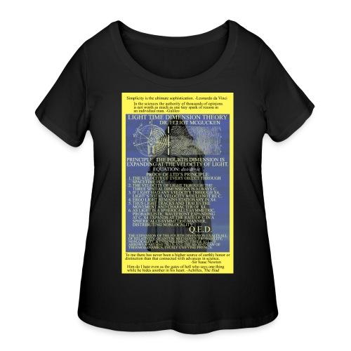 Light Time Dimension Theory: Dr. Elliot McGucken - Women's Curvy T-Shirt
