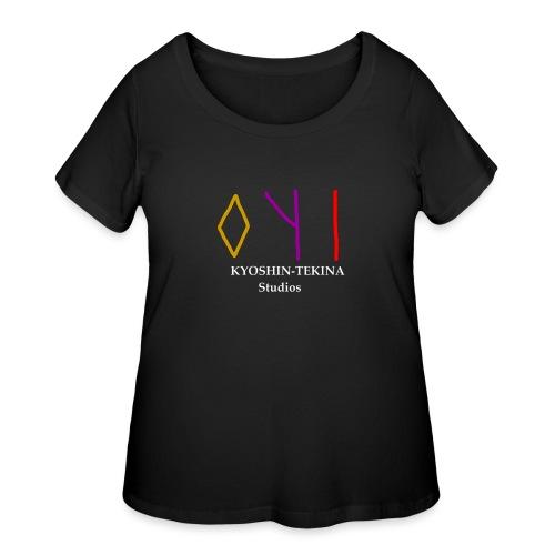 Kyoshin-Tekina Studios logo (white text) - Women's Curvy T-Shirt