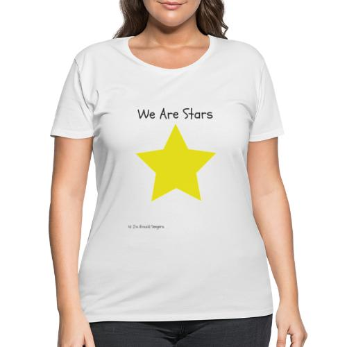 Hi I'm Ronald Seegers Collection-We Are Stars - Women's Curvy T-Shirt