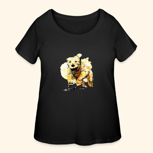 oil dog - Women's Curvy T-Shirt