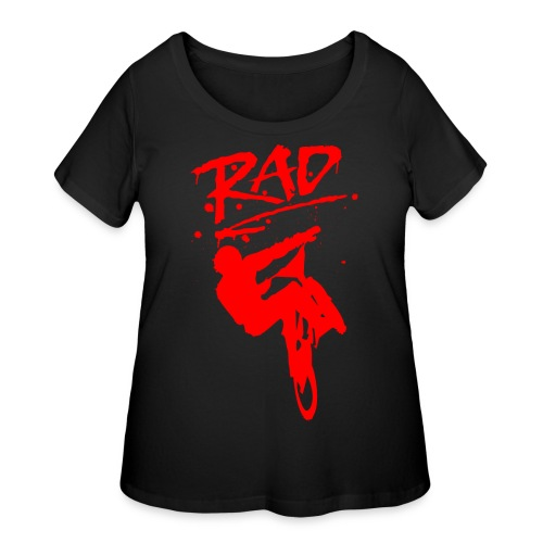 RAD BMX Bike Grafitti 80s Movie Radical T shirts - Women's Curvy T-Shirt