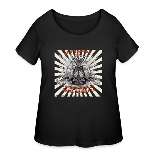 The League of Extraordinary Beer Drinkers Crest 3X - Women's Curvy T-Shirt